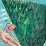 """Maria Lassnig """"Der Wald"""", 1985, Öl auf Leinwand, 205 x 140 cm, erzielter Preis € 491.000 – Weltrekord!"""