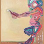 Maria Lassnig, Innerhalb und Außerhalb der Leinwand I, 1984/85