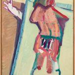 Maria Lassnig, Innerhalb und Außerhalb der Leinwand II, 1984/85,